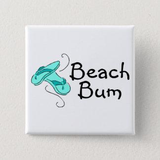 Bóton Quadrado 5.08cm Chinelos do vagabundo da praia
