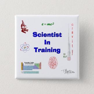 Bóton Quadrado 5.08cm Cientista no treinamento
