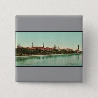 Bóton Quadrado 5.08cm Clássico Photochrom do hotel de Tampa Bay