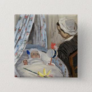 Bóton Quadrado 5.08cm Claude Monet | o berço, Camilo com filho Jean