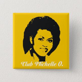 Bóton Quadrado 5.08cm Clube Michelle O. Botão, amarelo do milho