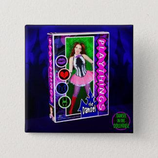 Bóton Quadrado 5.08cm Cobrir do álbum dos brinquedos botão do quadrado