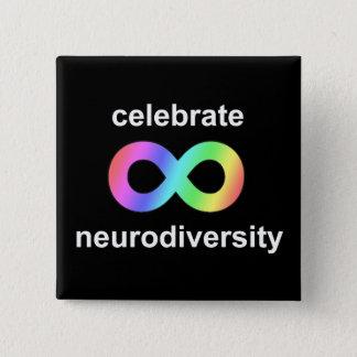 Bóton Quadrado 5.08cm Comemore o neurodiversity