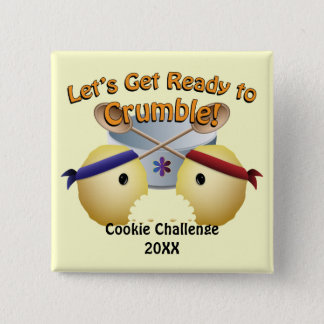 Bóton Quadrado 5.08cm Competição do cozimento do biscoito