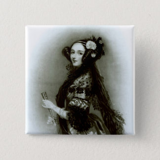 Bóton Quadrado 5.08cm Condessa do Ada Byron de Augusta de Lovelace