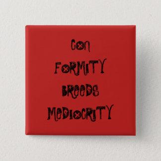Bóton Quadrado 5.08cm Conformidade