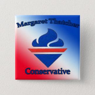 Bóton Quadrado 5.08cm Conservador de Margaret Thatcher
