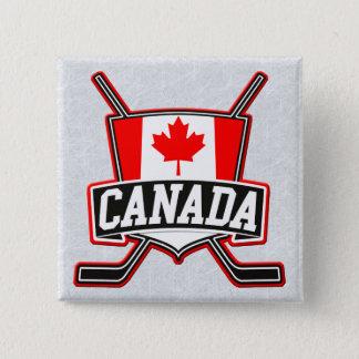 Bóton Quadrado 5.08cm Crachá canadense do logotipo do hóquei