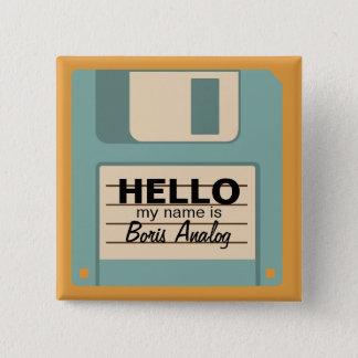 Bóton Quadrado 5.08cm Crachá conhecido personalizado de disquete