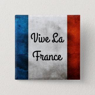 Bóton Quadrado 5.08cm Crachá de France do La de Vive