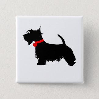 Bóton Quadrado 5.08cm Crachá do botão do pino do cão do Scottie