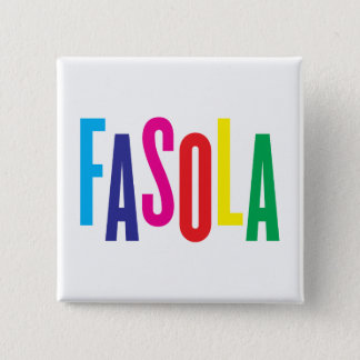 Bóton Quadrado 5.08cm Crachá do quadrado do logotipo de CMYK Fasola