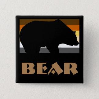 Bóton Quadrado 5.08cm Crachá do urso