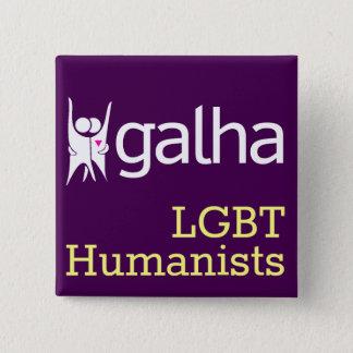 Bóton Quadrado 5.08cm Crachá quadrado dos humanistas de Galha LGBT
