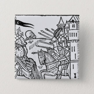 Bóton Quadrado 5.08cm Crusading os cavaleiros montam para fora para
