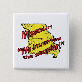 Bóton Quadrado 5.08cm ~ da divisa de Missouri MO E.U. nós inventamos o