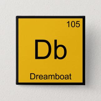 Bóton Quadrado 5.08cm DB - T engraçado do símbolo do elemento da química