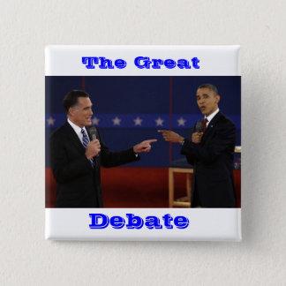 Bóton Quadrado 5.08cm debate-number-21.jpg, o excelente, debate