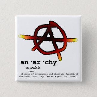Bóton Quadrado 5.08cm Definição da anarquia
