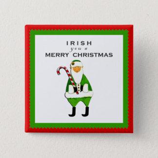 Bóton Quadrado 5.08cm Desejo irlandês do Natal