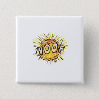 Bóton Quadrado 5.08cm Desenhos animados do Woof da explosão