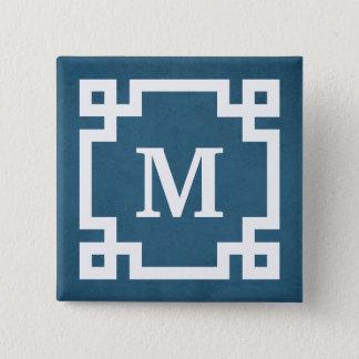 Bóton Quadrado 5.08cm Design do monograma