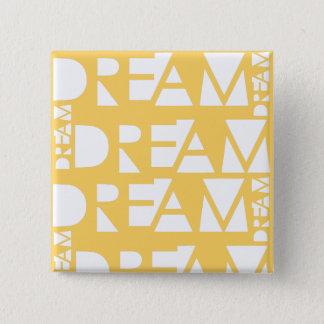 Bóton Quadrado 5.08cm Design geométrico ideal amarelo do entalhe