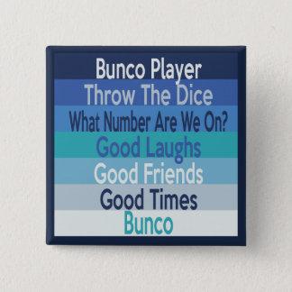Bóton Quadrado 5.08cm Design moderno da listra do jogador de Bunco