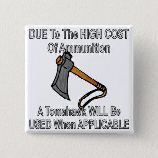 Bóton Quadrado 5.08cm Devido ao custo alto da munição um Tomahawk será