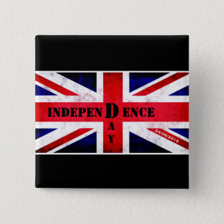 Bóton Quadrado 5.08cm Dia da Independência para Reino Unido