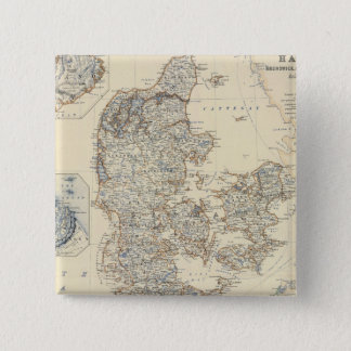 Bóton Quadrado 5.08cm Dinamarca, Hanover, Brunsvique, Mecklenburg