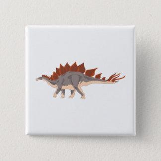Bóton Quadrado 5.08cm Dinossauro