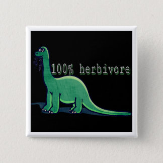 Bóton Quadrado 5.08cm dinossauro 100% do herbívoro