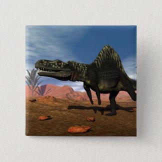 Bóton Quadrado 5.08cm Dinossauro de Arizonasaurus - 3D rendem
