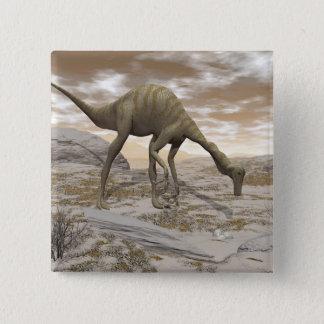 Bóton Quadrado 5.08cm Dinossauro de Gallimimus - 3D rendem