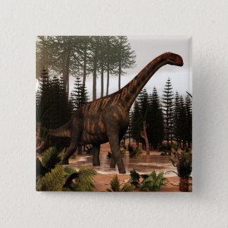 Bóton Quadrado 5.08cm Dinossauro de Jobaria - 3D rendem