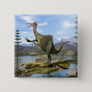 Bóton Quadrado 5.08cm Dinossauro do Deinocheirus - 3D rendem