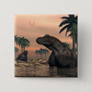 Bóton Quadrado 5.08cm Dinossauros de Keratocephalus - 3D rendem