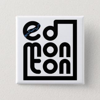 Bóton Quadrado 5.08cm Edmonton em um botão do quadrado da caixa