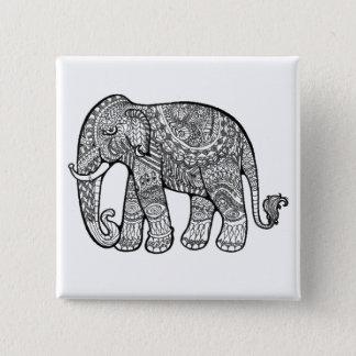 Bóton Quadrado 5.08cm Elefante