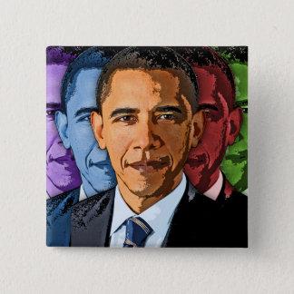 Bóton Quadrado 5.08cm Eleja Barack Obama para o presidente