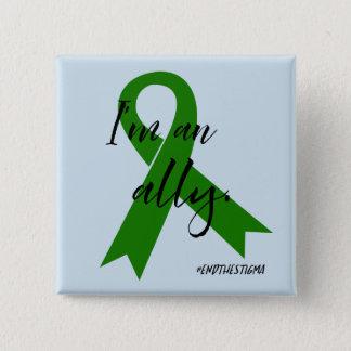 Bóton Quadrado 5.08cm #EndtheStigma - botão da consciência da saúde