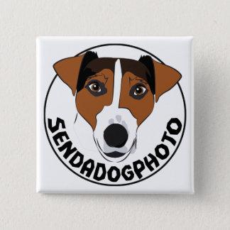 Bóton Quadrado 5.08cm Envie uma foto do cão