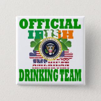 Bóton Quadrado 5.08cm Equipe americana irlandesa oficial do bebendo