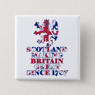 Bóton Quadrado 5.08cm Escocês e britânico orgulhosos