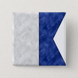 Bóton Quadrado 5.08cm Escolha de 26 bandeiras marítimas náuticas da