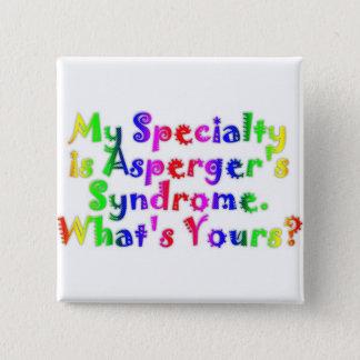 Bóton Quadrado 5.08cm Especialidade de Asperger