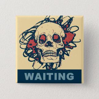 Bóton Quadrado 5.08cm Esperando algo!