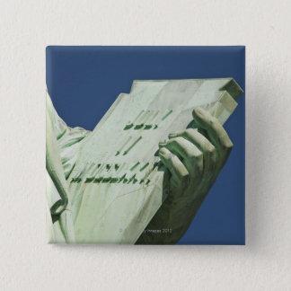 Bóton Quadrado 5.08cm Estátua da liberdade 2