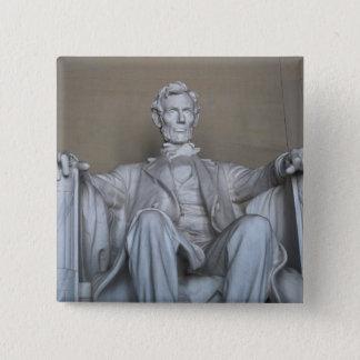 Bóton Quadrado 5.08cm Estátua de Abraham Lincoln